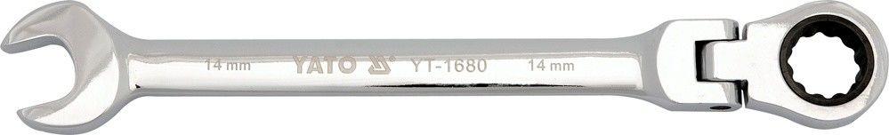 Klucz płasko-oczkowy Yato z grzechotką przegubową 11 mm