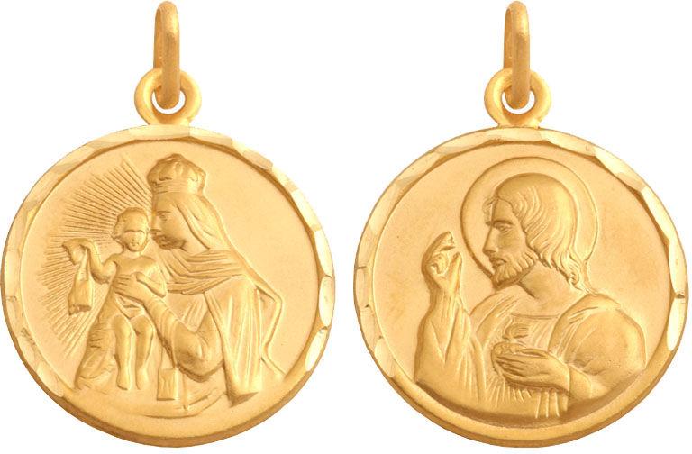 Złoty medalik 585 Popiersie Matki Boskiej 14kt