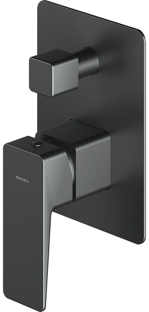 Omnires Parma bateria prysznicowo-wannowa podtynkowa grafit PM7435GR