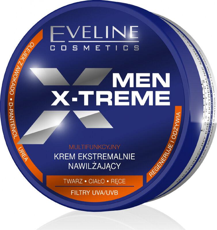 Eveline Cosmetics - MEN X-TREME - Silnie nawilżający krem do twarzy, ciała i rąk dla mężczyzn - 200 ml