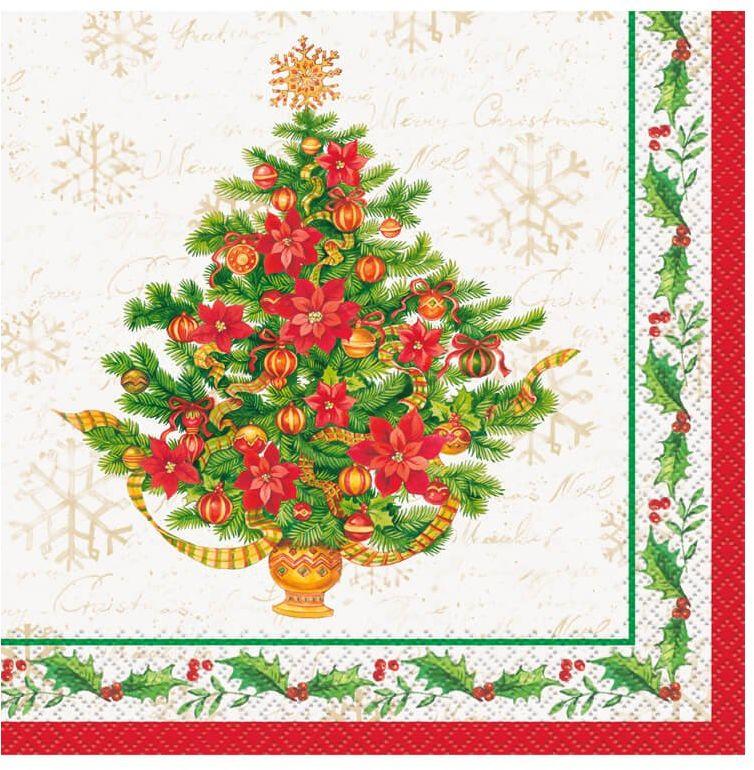 Serwetki Choinka na Boże Narodzenie - 33 cm - 16 szt.