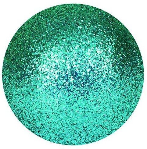 EUROPALMS Deco Ball Dekoracyjne kule, bombki 3,5cm, turquoise, brokat 48szt