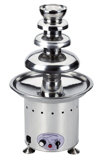 Profesjonalna fontanna czekoladowa 6.5kg 10-100 C 750W 220-240V śr. 410x(H)750mm