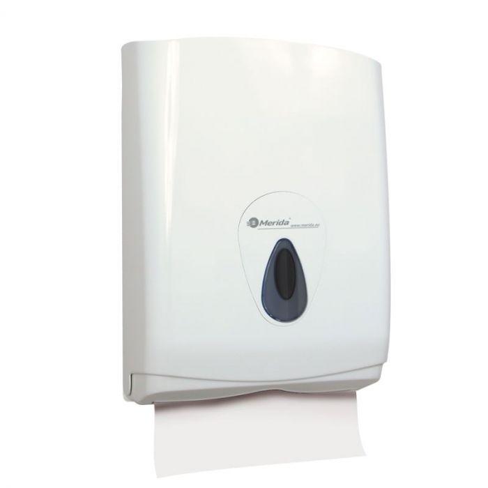 Pojemnik na pojedyncze ręczniki papierowe Merida Top Maxi, okienko szare