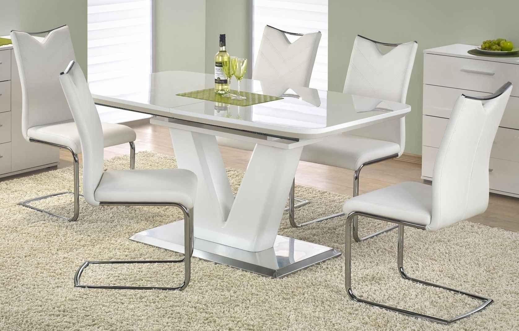 Zestaw: stół rozkładany Mistral i 4 krzesła K224 Halmar - 4 kolory