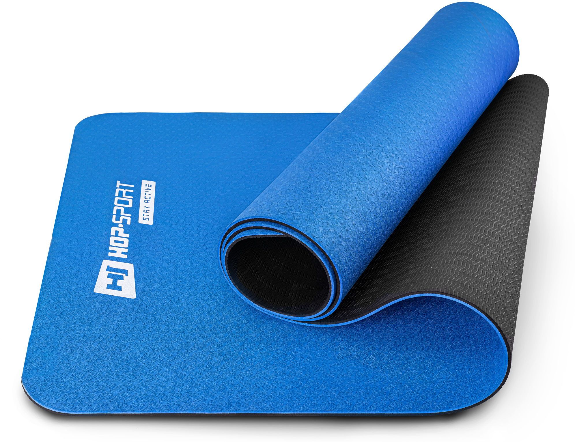 Mata fitness TPE 0,6cm - niebieska