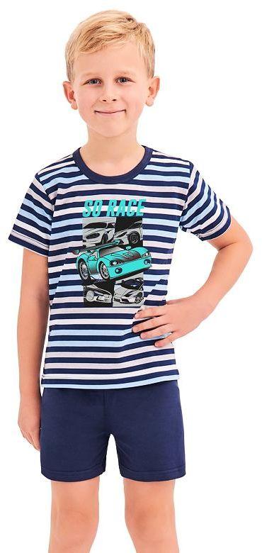 Piżama chłopięca Max w niebieskie paski92