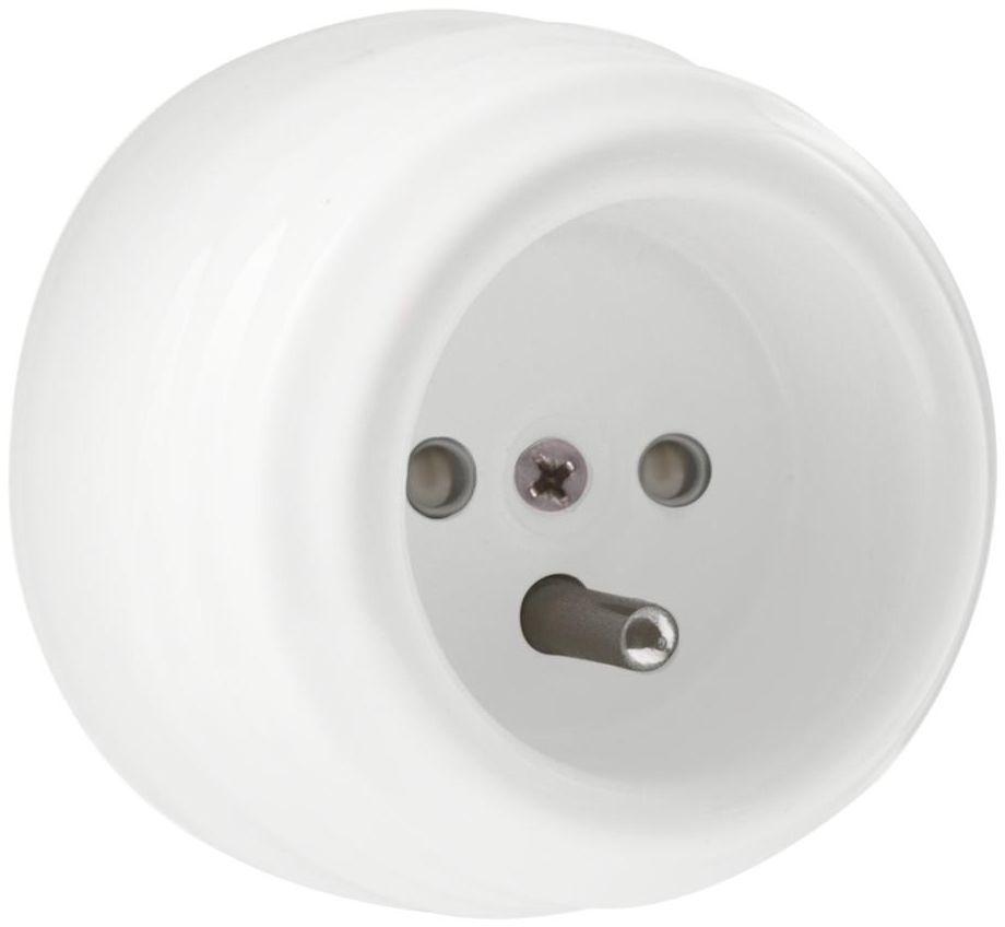 Gniazdo pojedyncze CLA1002 biały