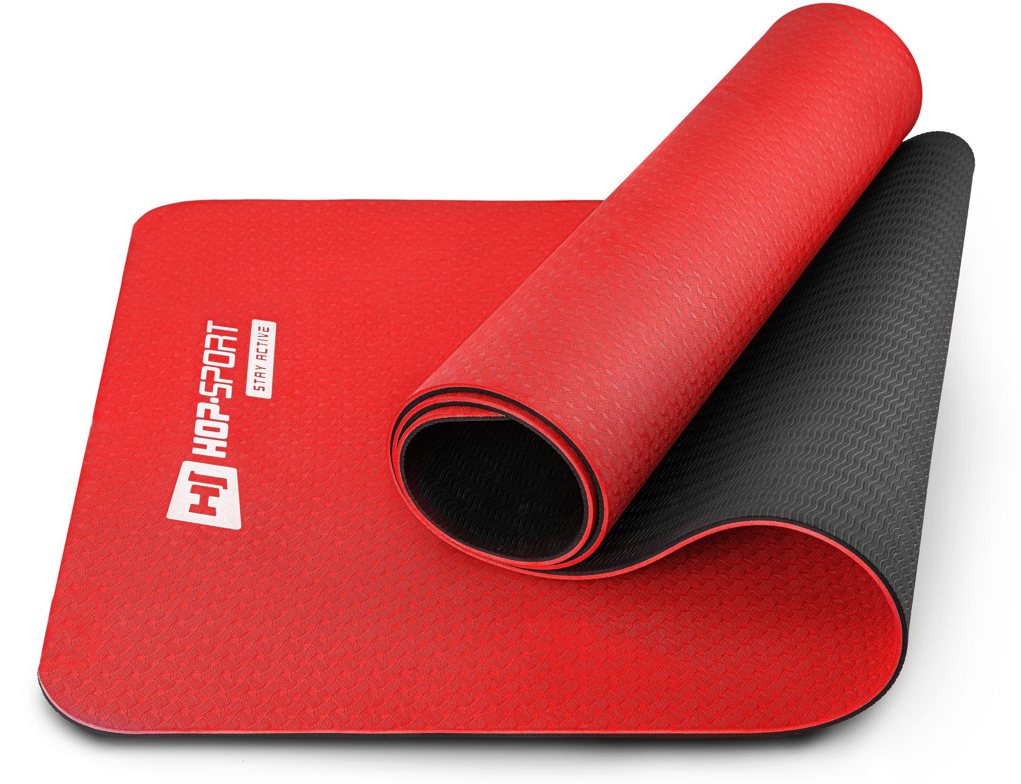 Mata fitness TPE 0,6cm - czerwona