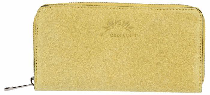 Uniwersalne Portfele Skórzane firmy VITTORIA GOTTI Żółty (kolory)