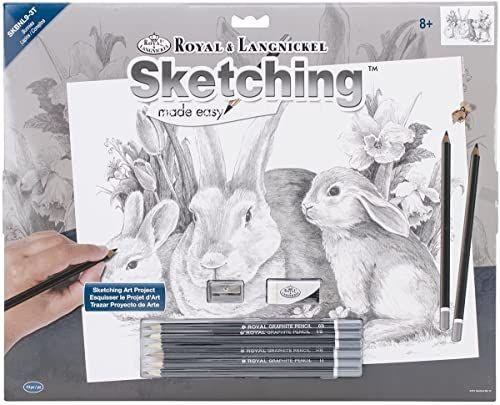 Royal Brush Łatwy do szkicowania duży zestaw 40 x 30 cm, króliczki