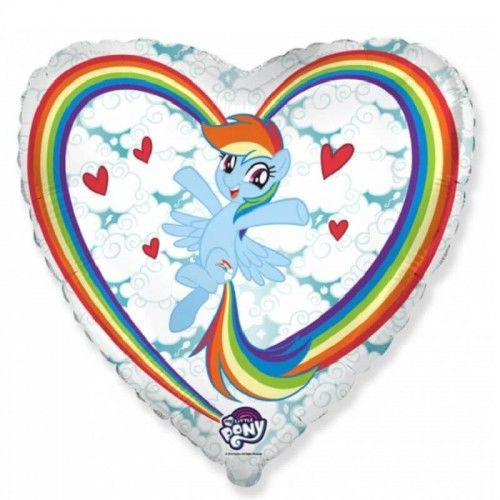 Balon foliowy serce My Little Pony Chmurki