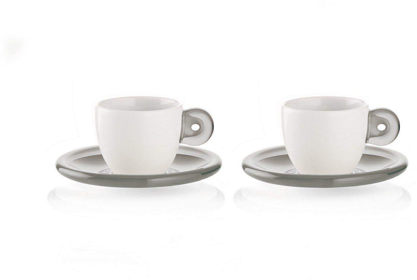 Fratelli Guzzini Gocce, zestaw 2 filiżanek do espresso ze spodkami, SMMA Porcelana