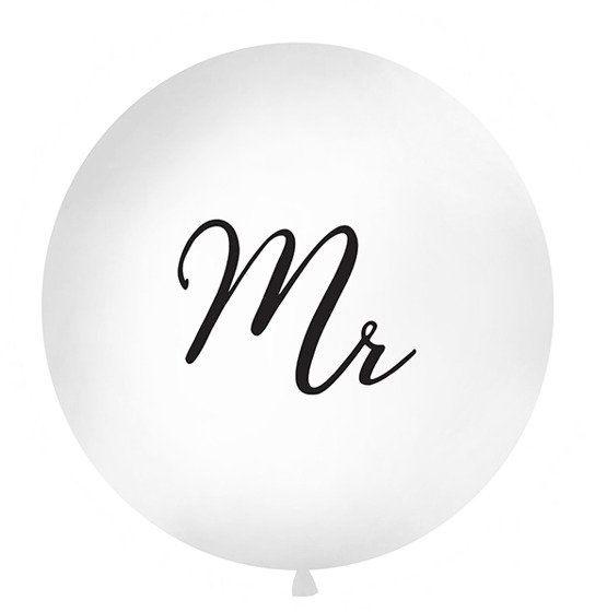 Balon olbrzym z czarnym nadrukiem Mr 100cm OLBON12D-008