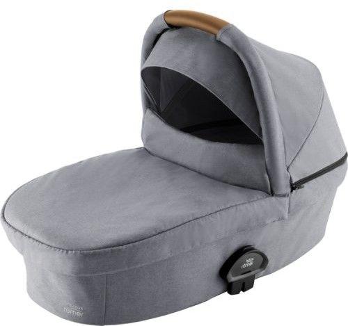 Gondola Twarda Britax Romer Smile III Frost Grey, Brown Handle