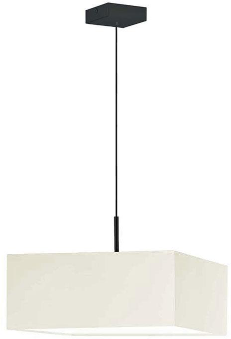 Żyrandol z abażurem na czarnym stelażu - EX859-Bogoti - 18 kolorów
