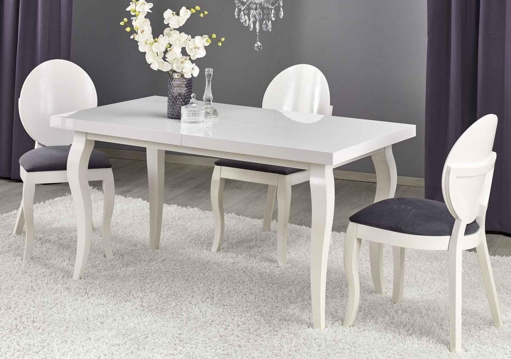 Zestaw: stół rozkładany Mozart i 4 krzesła Verdi Halmar