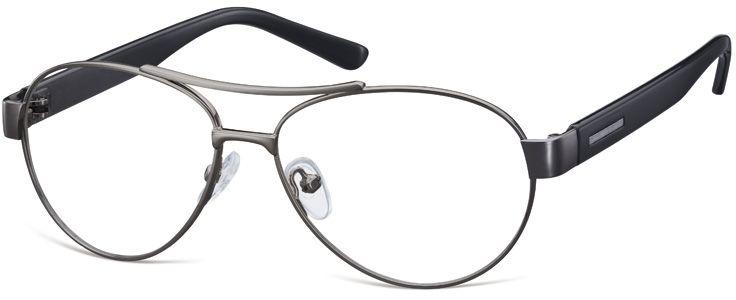 Małe Okulary oprawki Pilotki metalowe korekcyjne M380 grafitowe