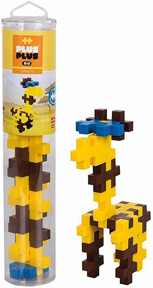 Plus-Plus 9603409 kreatywne klocki Tuba, Big Giraffe, genialna zabawka konstrukcyjna, 15 części