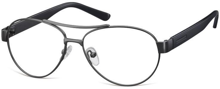 Małe Okulary oprawki Pilotki metalowe korekcyjne M380A czarne
