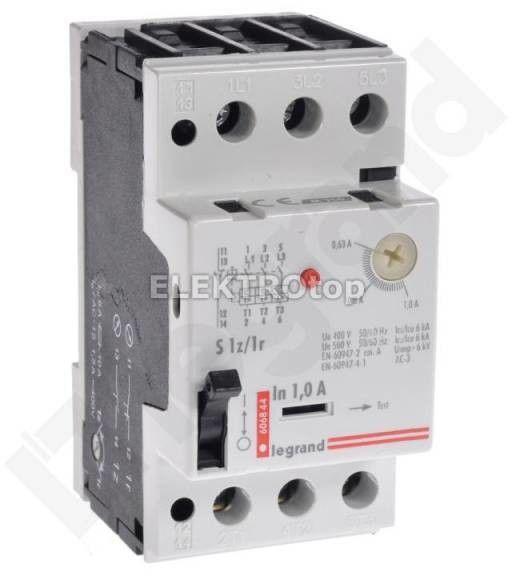 Wyłącznik silnikowy 3P 0,25kW 0,63-1A M 250 S 1Z/1R 1 606844