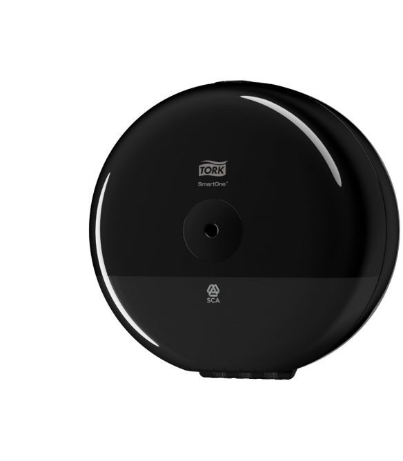 Mini dozownik do papieru toaletowego w roli Tork SmartOne czarny