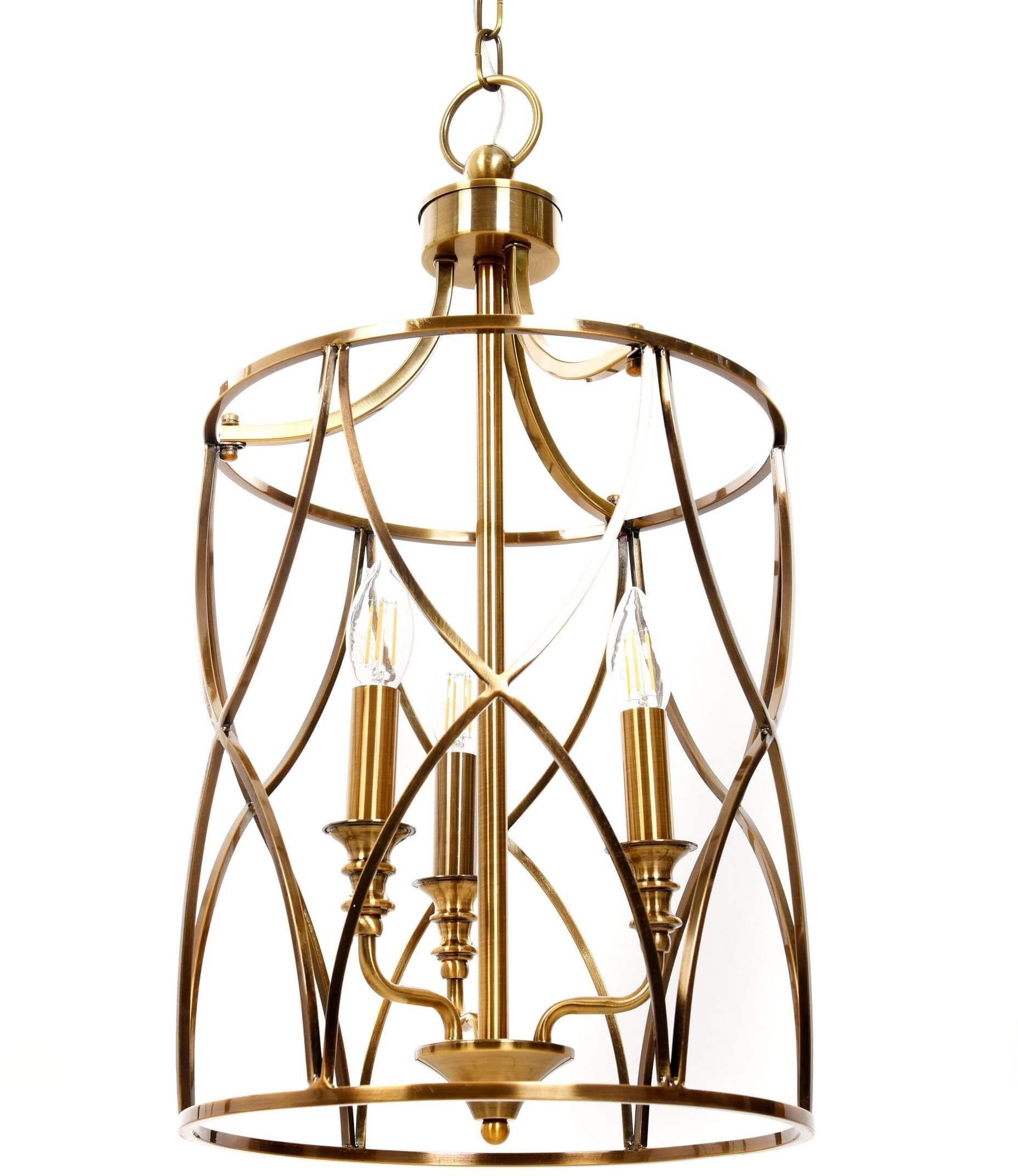LAMPA SUFITOWA ART DECO MOSIĘŻNA ELMONT W3