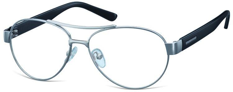 Małe Okulary oprawki Pilotki metalowe korekcyjne M380D jasnografitowe