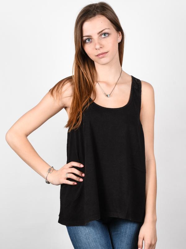 Element APY black bawełniany podkoszulek damski