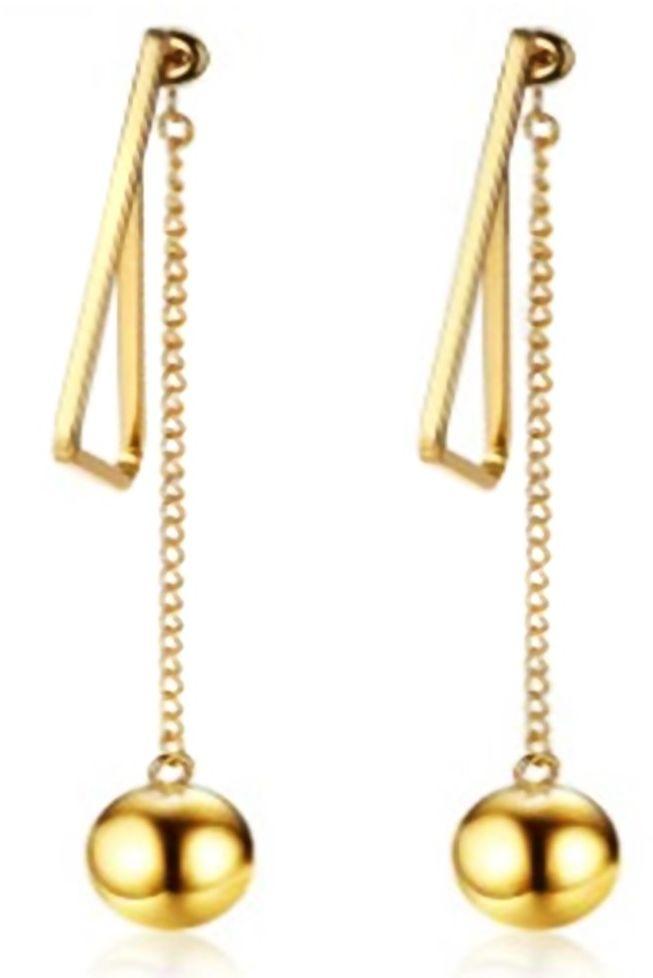 Złote Kolczyki Kule ze Stali Chirurgicznej