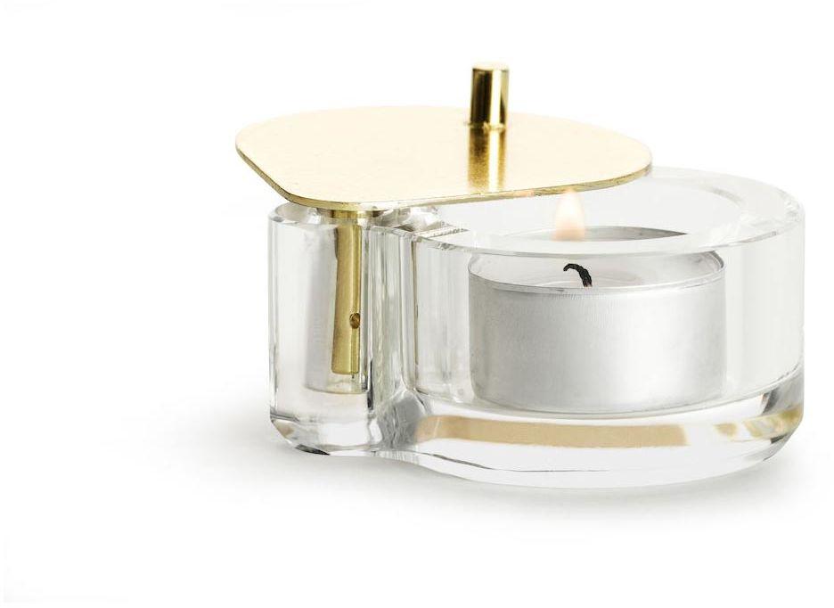 Kryształowy świecznik na tealight (złoty) Winter Sagaform