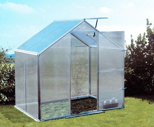 Szklarnia aluminiowa 2,30 x 1,54m Gutta Gartentec F2 z poliwęglanu 6mm