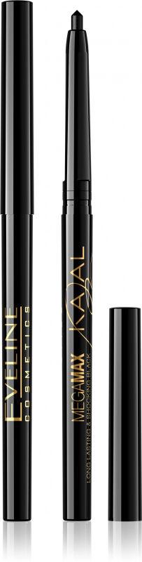 Eveline Cosmetics - MEGAMAX Long Lasting Kajal - Kredka do oczu - Czarna