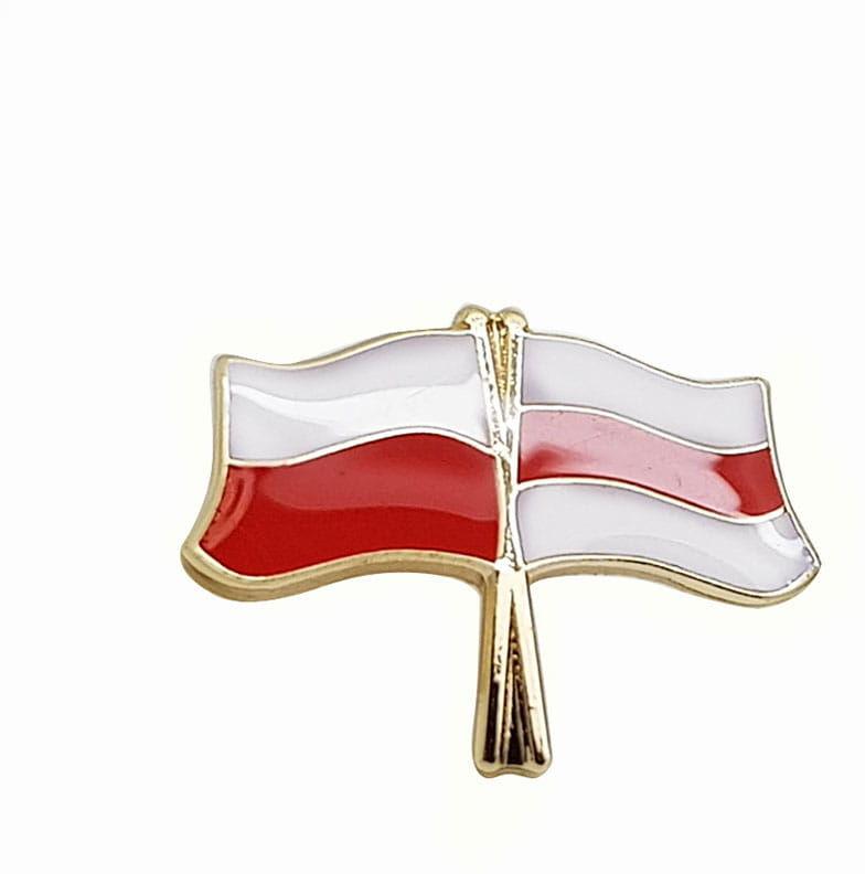 Przypnka flaga PL- Wolna Białoruś
