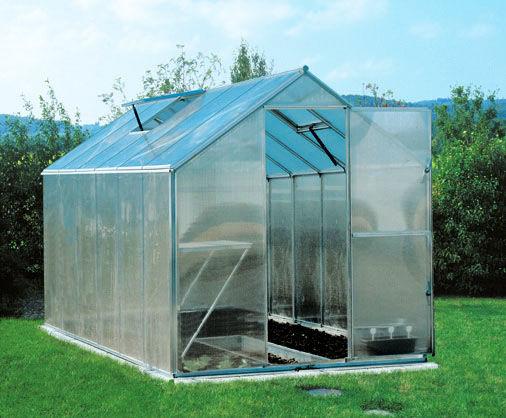 Szklarnia aluminiowa 2,30 x 4,48m Gutta Gartentec F6 z poliwęglanu 6mm