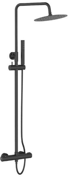 Laveo kolumna natryskowa z baterią termostatyczną Pretto PLP 70TD czarna