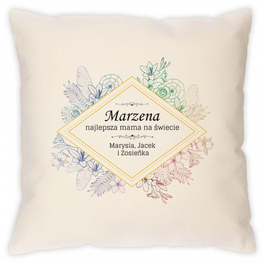 Poduszka personalizowana z nadrukiem NAJLEPSZA MAMA