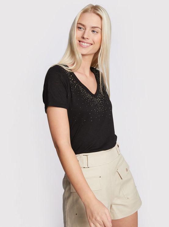 Morgan T-Shirt 211-DLINA Czarny Regular Fit