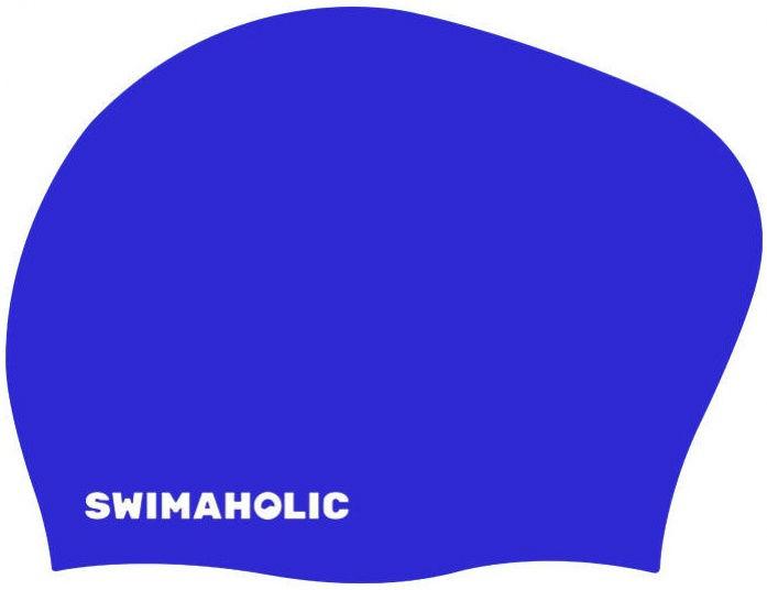 Swimaholic long hair cap niebieski