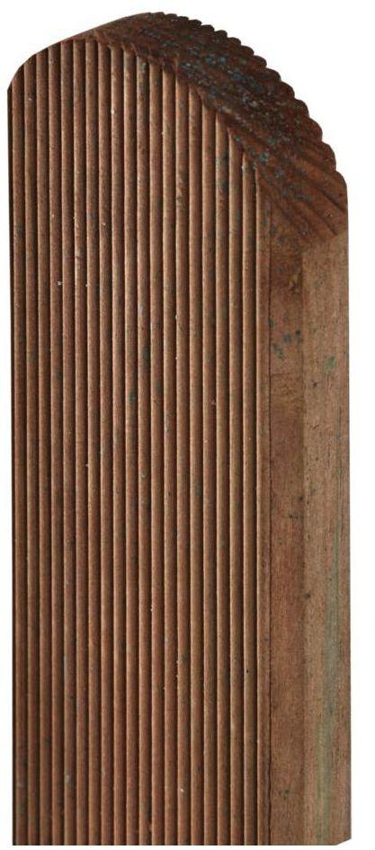 Sztacheta drewniana 120 x 9 x 2 cm ryflowana brązowa SOBEX