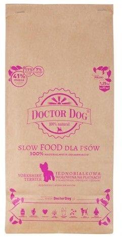Doctor Dog York - Jednobiałkowa Wołowina na Płatkach Małe Rasy 1.25kg