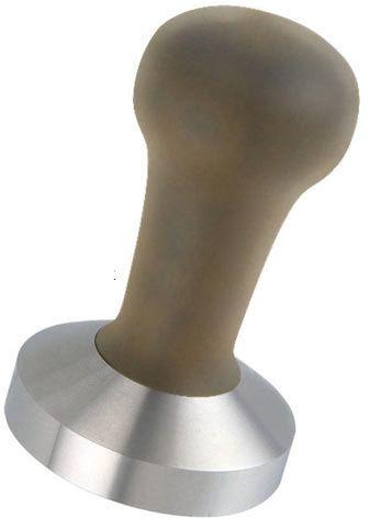 Motta tamper stal. z drewnianą rączką 58 mm wypukły