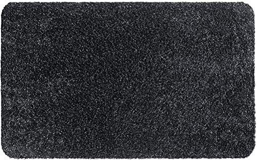 Natuflex wycieraczka, nadaje się do prania, z bawełny i poliestru, grafitowa, 50 x 80 cm
