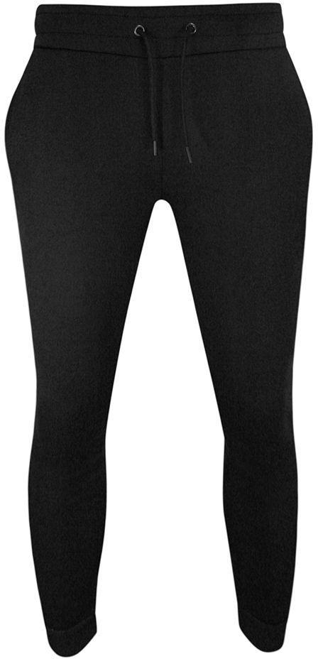 Spodnie Dresowe Czarne, Sportowe Męskie ze Ściągaczami, Zwężane -Brave Soul SPBRSSS21TYRELLEblack