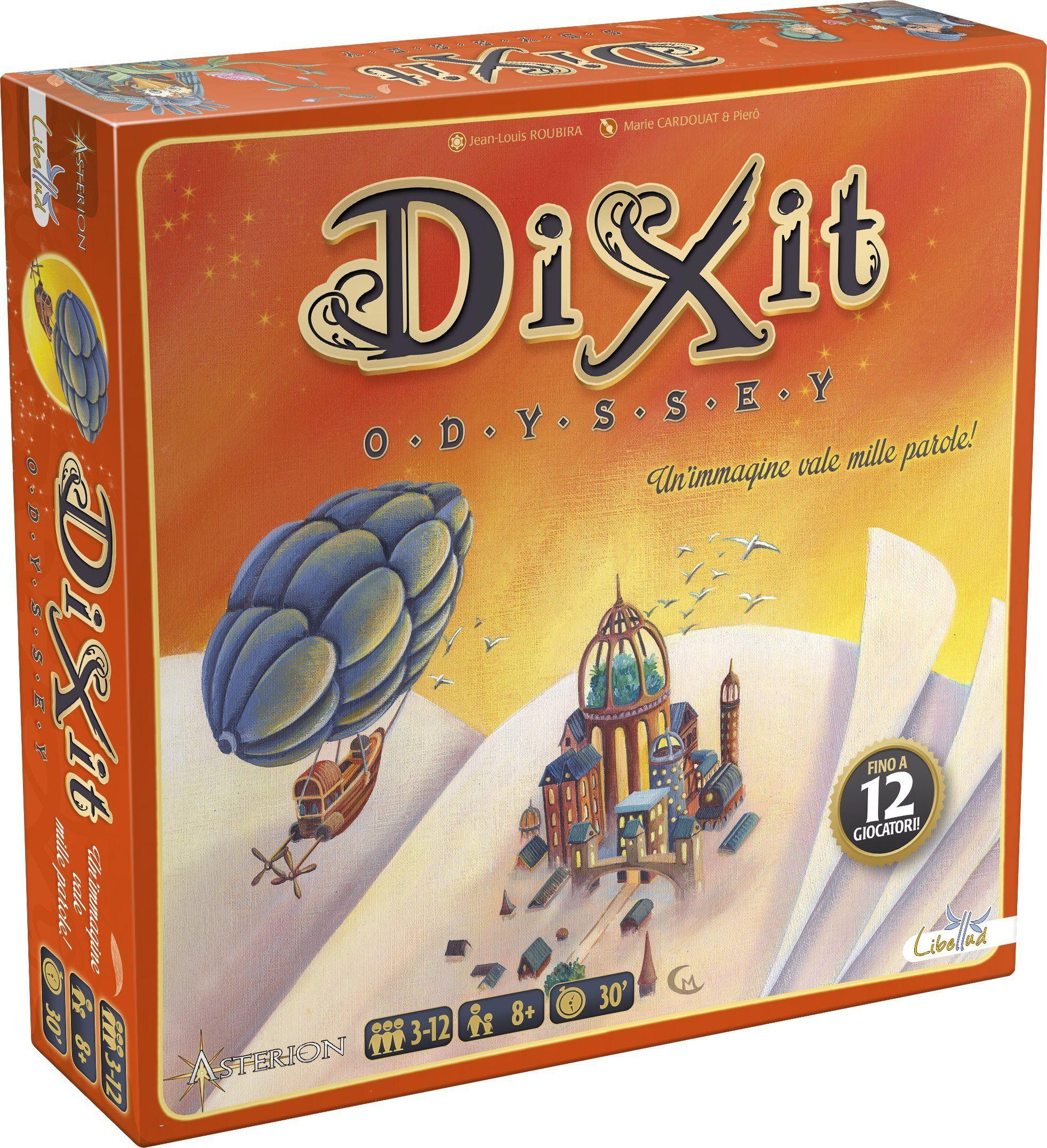 Asterion 8005  Dixit Odyssey, włoskie wydanie gra towarzyska [nowa wersja] Single wielokolorowy