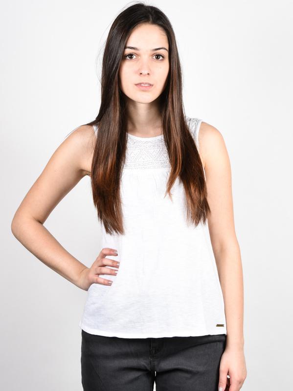 Element LUCY white bawełniany podkoszulek damski - XL