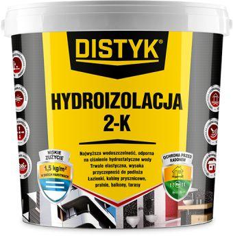 Hydroizolacja 2K Distyk wiadro 7 kg szary