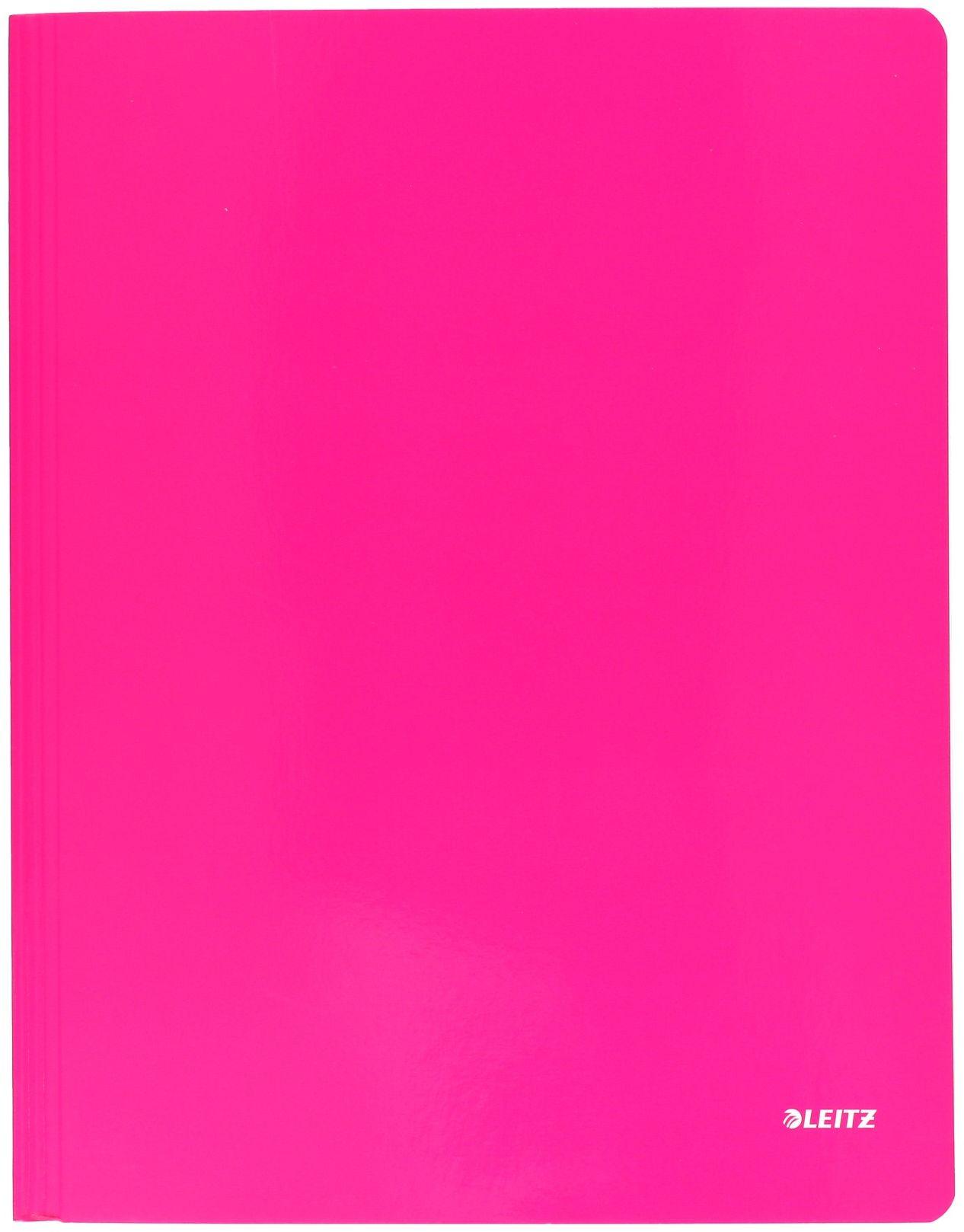 Skoroszyt kartonowy A4 różowy Leitz
