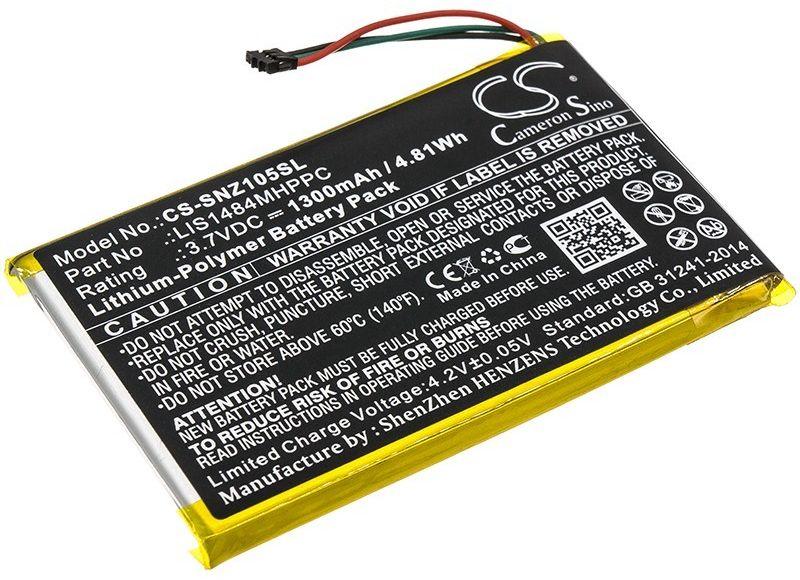 Sony NWZ-Z1050 / LIS1484MHPPC 1300mAh 4.81Wh Li-Polymer 3.7V (Cameron Sino)