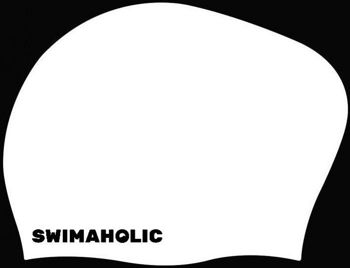 Swimaholic long hair cap biały